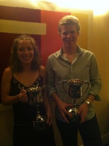 Inaugural club champions Ellen & Stephen