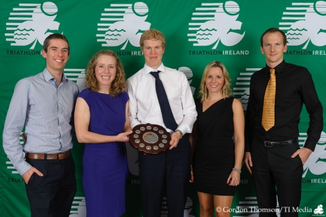 Eoin Gorman, Ellen Murphy, Stephen Early, Sarah Lane and Louis Kelleher - four of the six person Belpark team that won the 2012 Mixed Club Championships
