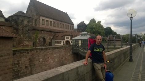 Ed at Nuremburg city walls